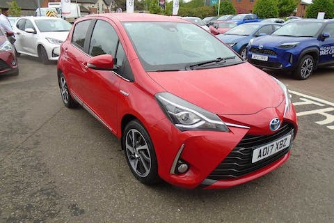 Red Toyota Yaris VVT-i Excel 2017