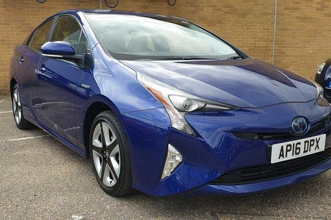 Blue Toyota Prius VVT-i Business Edition Plus 2016
