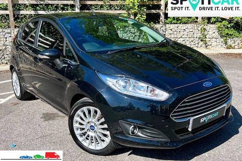 Black Ford Fiesta 1.0 Ecoboost Titanium S/S 2014