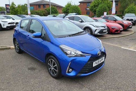 Blue Toyota Yaris VVT-i Icon Tech 2019