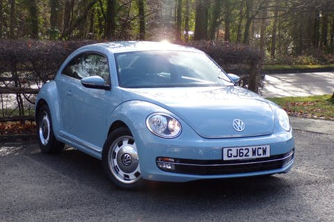 Blue Volkswagen Beetle 1.4 Design TSI 2012