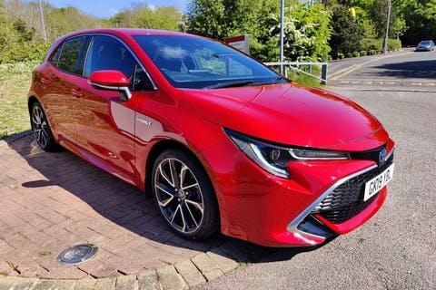 Red Toyota Corolla VVT-i Excel 2019