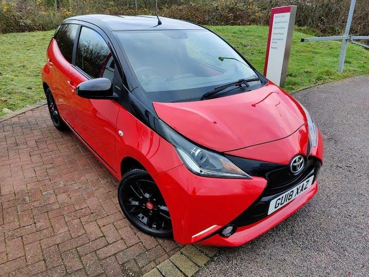 Red Toyota Aygo VVT-i X-cite 4 2018