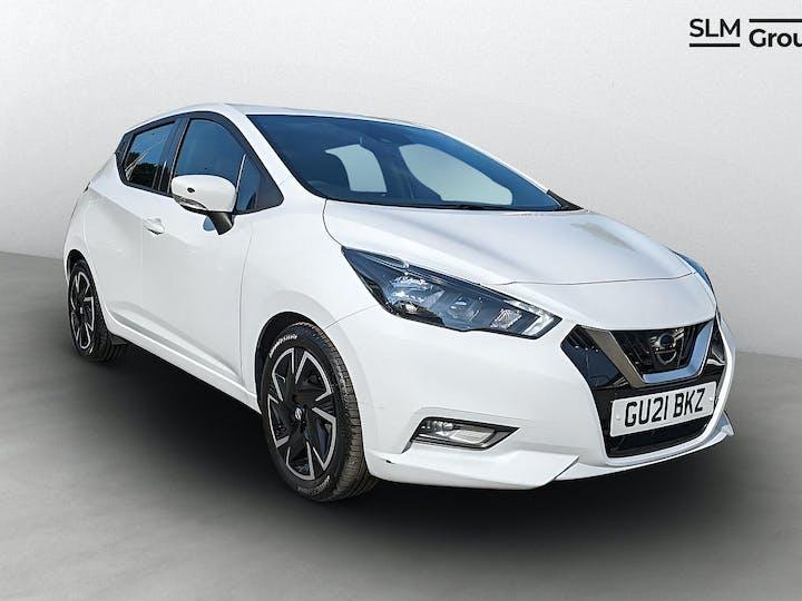 White Nissan Micra Ig-t Acenta 2021