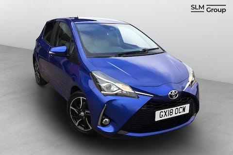 Blue Toyota Yaris VVT-i Design 2018