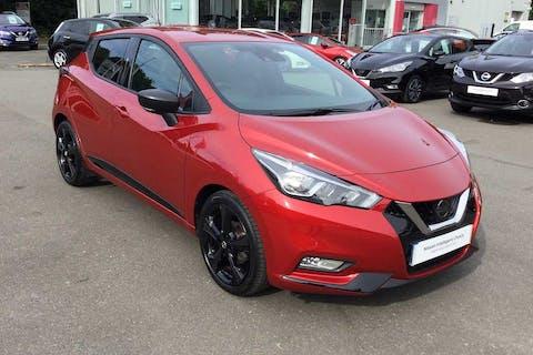 Red Nissan Micra 1.0 Ig-t N-sport 2019