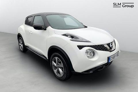 White Nissan Juke Acenta 2019