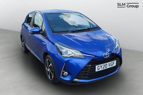 Blue Toyota Yaris VVT-i Excel 2020