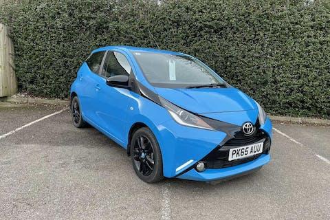 Blue Toyota Aygo VVT-i X-cite 2 2015