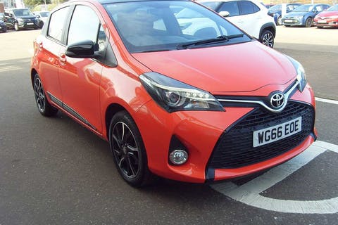 Orange Toyota Yaris VVT-i Orange Edition 2016
