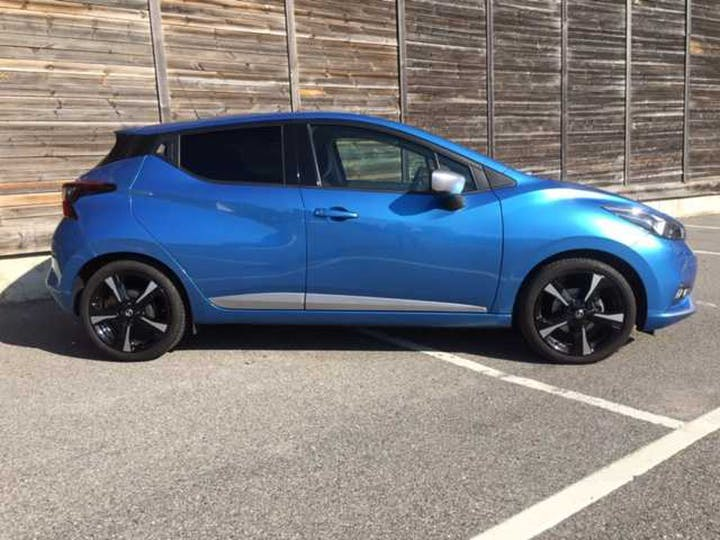 Blue Nissan Micra Ig-t N-connecta 2017