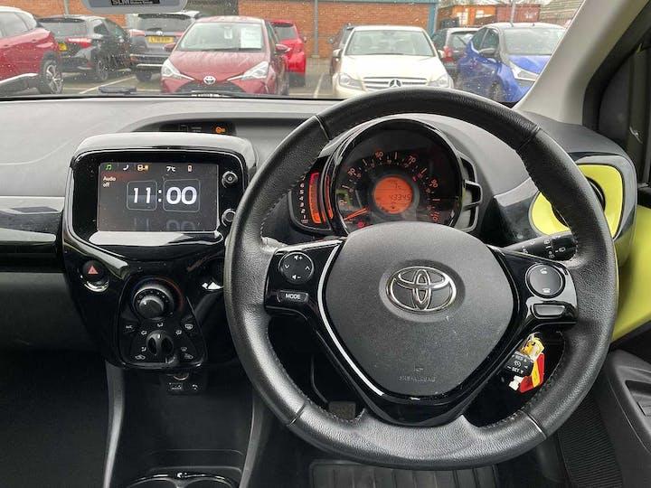 Yellow Toyota Aygo VVT-i X-cite 3 2016