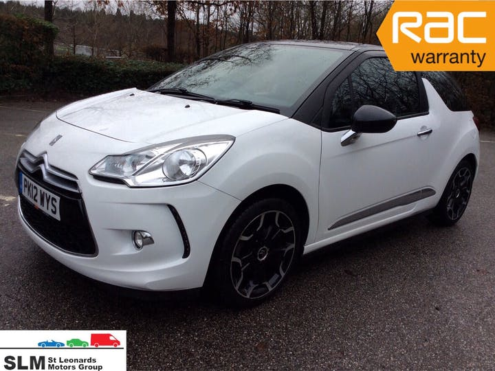White Citroen DS 3 1.6 Dstyle 2012